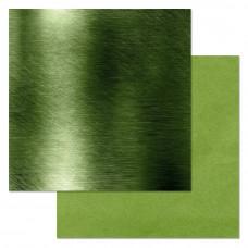 """Лист бумаги от ScrapMania """"Фономикс. Зелёный"""" Металл, 30 х 30 см."""