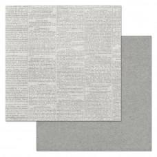"Лист бумаги от ScrapMania ""Фономикс. Эко"" Газета 30 х 30 см."