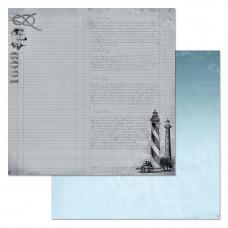 """Лист бумаги от ScrapMania """"Мой капитан"""" Бортовой журнал, 30 х 30 см."""