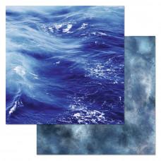 """Лист бумаги от ScrapMania """"Армейский альбом"""" Синее море, 30 х 30 см."""