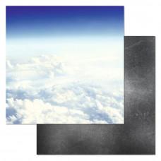 """Лист бумаги от ScrapMania """"Армейский альбом"""" Чистое небо, 30 х 30 см."""
