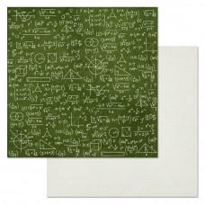 """Лист бумаги от ScrapMania """"Школьный вальс"""" У доски, 30 х 30 см."""