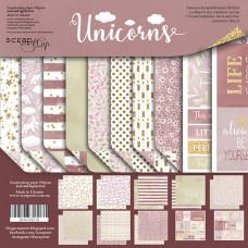Набор двусторонней бумаги 20 х 20 см. от Scrapmir Unicorns 10 листов