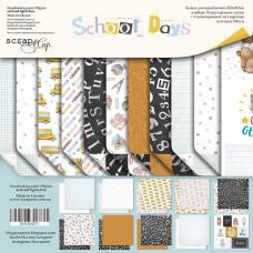 Набор двусторонней бумаги 30 х 30 см. от Scrapmir School Days 11 листов