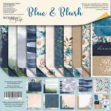 Набор двусторонней бумаги 20 х 20 см. от Scrapmir Blue & Blush 11 листов