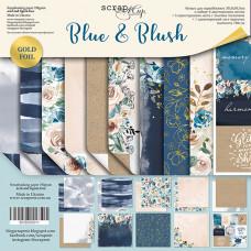 Набор двусторонней бумаги 30 х 30 см. от Scrapmir Blue & Blush 10 листов