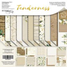 Набор двусторонней бумаги 20 х 20 см. от Scrapmir Tenderness 11 листов