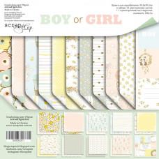 Набор двусторонней бумаги 30 х 30 см. от Scrapmir Boy or Girl 11 листов