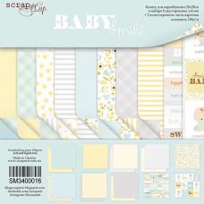 Набор двусторонней бумаги 20 х 20 см. от Scrapmir Smile Baby 10 листов