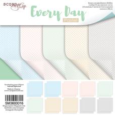 Набор двусторонней бумаги 20 х 20 см. от Scrapmir Every Day Pastel 10 листов
