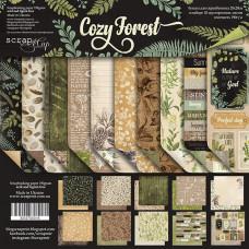 Набор двусторонней бумаги 20 х 20 см. от Scrapmir Cozy Forest 10 листов