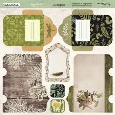 Лист двусторонней бумаги 20x20 см. от Scrapmir Cozy Forest Конверты