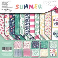 Набор двусторонней бумаги 20 х 20 см. от Scrapmir Summer 11 листов