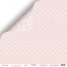 Лист двусторонней бумаги 30x30 см. от Scrapmir So Loved Шифон