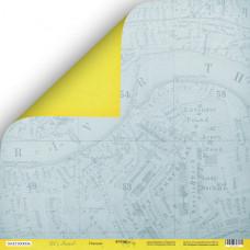 Лист двусторонней бумаги 30x30 см. от Scrapmir Let's Travel  Поездка
