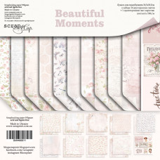 Набор двусторонней бумаги 30 х 30 см. от Scrapmir Beautiful Moments 11 листов