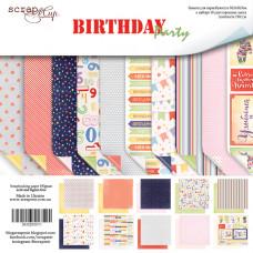 Набор двусторонней бумаги 30 х 30 см. от Scrapmir Birthday Party 10 листов