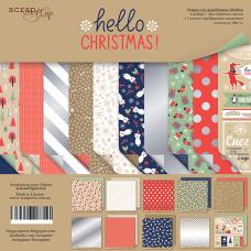 Набор двусторонней бумаги 20 х 20 см. от Scrapmir Hello Christmas 10 листов