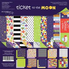 Набор двусторонней бумаги 30 х 30 см. от Scrapmir Ticket to the Moon 10 листов