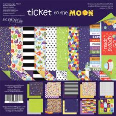 Набор двусторонней бумаги 20 х 20 см. от Scrapmir Ticket to the Moon 10 листов