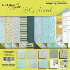 Набор двусторонней бумаги 20 х 20 см. от Scrapmir Let's Travel 10 листов
