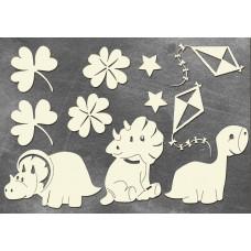"""Набор чипборда """"Dino Baby"""" (арт.162)"""