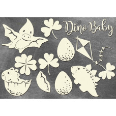 """Набор чипборда """"Dino Baby"""" (арт.163)"""
