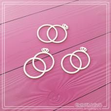 """Набор чипборда """"Свадебные кольца"""", 3 элемента"""