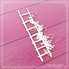 """Чипборд """"Лестница с цветами"""", 45 х 120 мм."""