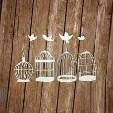 Винтажные клетки с птичками
