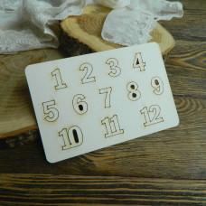 Цифры 1-12