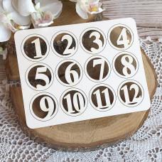 Цифры в кружочках 1-12