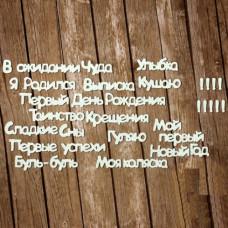 """Серия """"Фразы"""". Комплект №6. Первый год"""