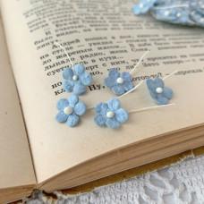 Цветочек маленький 13 мм., цвет голубой, 5 шт.