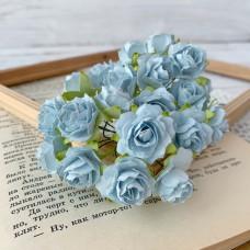 Роза кудрявая 2 см., голубая