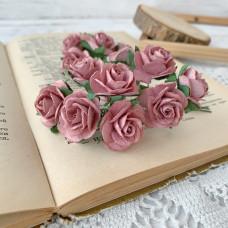 Роза, 2,5 см., каштановая