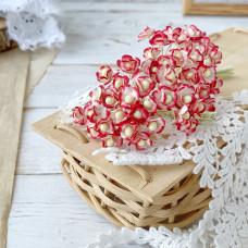 Цветок вишни мини, 1 см., красный/белый цвет