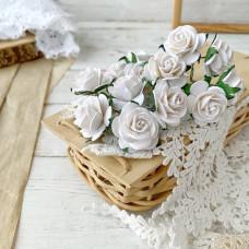 Роза, 2,5 см., белая