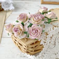 Роза, 2,5 см., молочно-сиреневая