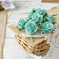 Роза, 2,5 см., мятная