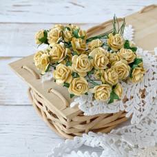Роза, 1,5 см., жёлтая