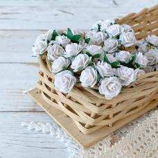 Роза, 1,5 см., белая