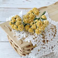 Роза, 1 см., жёлтая