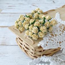 Роза, 1 см., светло-жёлтая