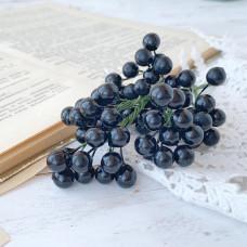 Набор лаковых ягод калины мини, цвет чёрный, 10 шт.