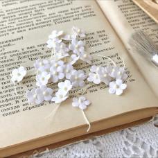 Цветочек маленький 13 мм., цвет белый, 5 шт.
