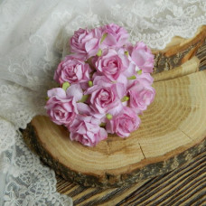 Роза кудрявая, 3 см., сиреневый цвет