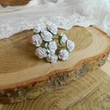 Роза, 1 см., белая