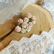 Роза, 1,5 см., светло-сиреневый/молочный цвет