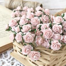 Роза, 1,5 см., розово-персиковая светлая